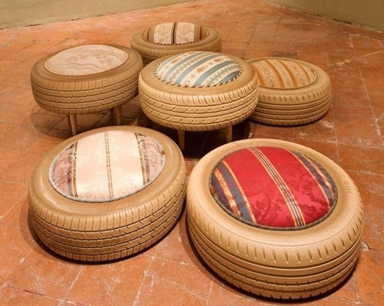 what good can be made of old car tires diy ideas diy is fun. Black Bedroom Furniture Sets. Home Design Ideas