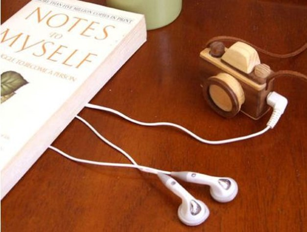 Wooden Mini Camera Was Made By Hand This Has A Built In Player Motz Music Box Which Allows You To Listen MP3 WMA And OGG