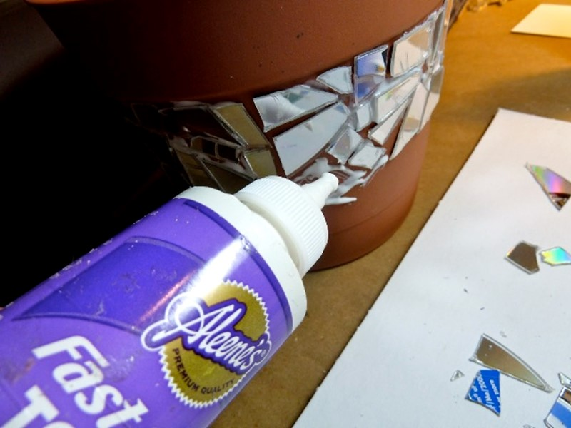 Как сделать DIY мозаику для цветочного горшка