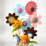 Applique buttons: flowers