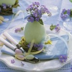 Table decoration for Easter celebration