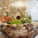 How to make Easter composition in the aquarium with their hands
