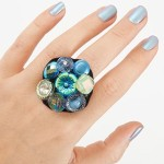 Unusual mother's day crafts: Homemade ring from buttons