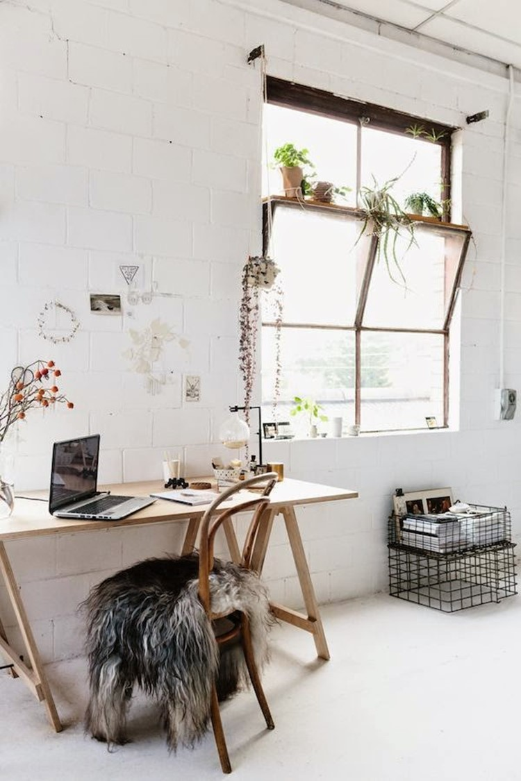 Home office decorating ideas 23 ideas for workplace diy for Vintage minimalist interior design