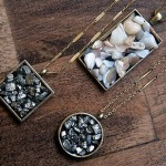 Homemade jewelry: Pendant made of stones with their hands