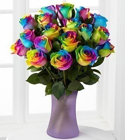 Presents for mom multi colored roses diy is fun for Different color roses bouquet
