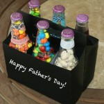Simple and fun fathers day gifts: bottles with sweets