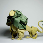 Original Art: Incredible dynamic origami figures
