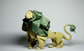 original art origami leo