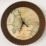 Handmade clocks «Antique Map»