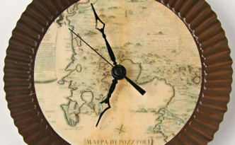 "Handmade clocks ""Antique Map"""