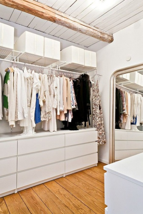 Bright and spacious walk-in closet