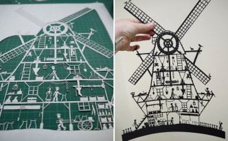 Windmill from paper