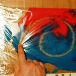 Art activities for children: Painting in the package.
