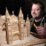 Contemporary art masterpieces of toothpicks by Stan Munro. Ideas for creative