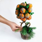 Christmas home decor: Tangerine tree