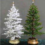 Artificial christmas tree from beads