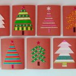 Cute christmas cards with simple applique