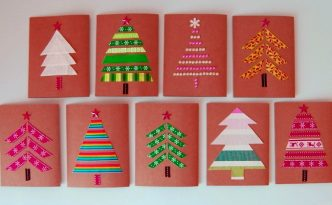 Diy is fun do it yourself creative ideas for homemade gifts cute christmas cards with simple applique solutioingenieria Images